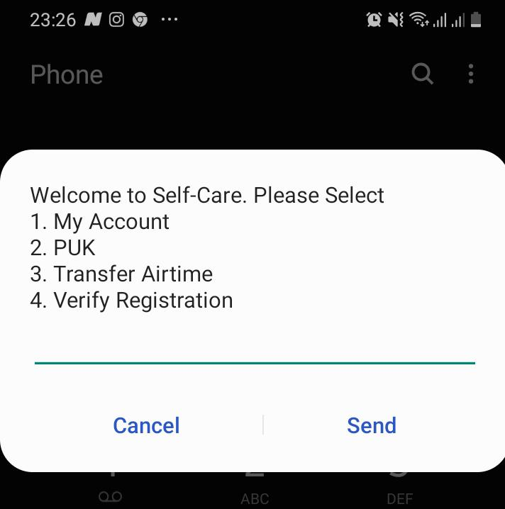 Econet Self Care Menu Airtime Transfer