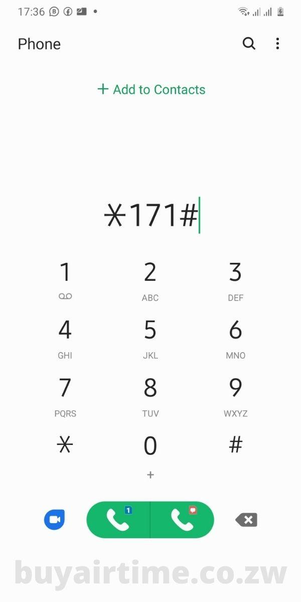 NetOne 171 USSD Code